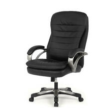 Moustache® Big & Tall Double Cushion Bonded Leather Office Chair, Black