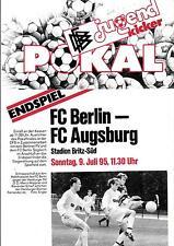 DFB-jugendkicker-Pokalfinale 09.07.1995 FC Berlin - FC Augsburg