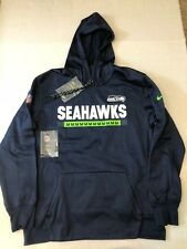 NEW NWT Seattle Seahawks Nike Therma Fit Sideline PO Hoodie Sweatshirt 2XL