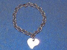 Bracciale donna acciaio con pendente cuore oggetto usato perfette condizioni