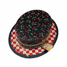 Punch Studio Mary Engelbreit Cherry Delight Hat Shaped Storage Box Vintage 2000