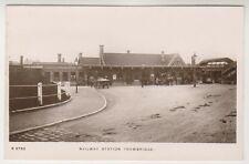 Wiltshire postcard - Railway Station, Trowbridge - RP