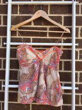 Lovely Sass & Bide 100% Silk Camisole Singlet Blouse  Top Sz Eu 36 US 0 Au 8 EUC