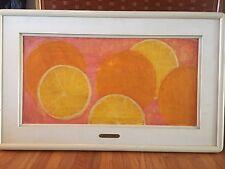 "BARBARA A WOOD Original Oil Painting on Board ~ Orange Delight ~ 31 x 16"""
