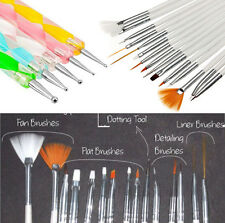 20pcs Nail Art Design Dotting Painting UV Gel Pen Brush Manicure Tips Tools Set