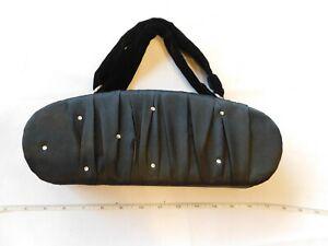 Victoria's Secret womens Evening Bag travel Purse handbag Black Satin Rhinestone