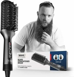 Wahl Electric Heated Beard Hair Straightener Brush - Hot Comb - Smooth Finish