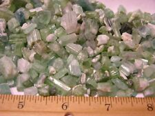 Tourmaline crystal mine rough greens mixed grade Afghanistan 2 ounce lots