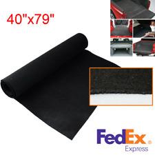 "Black Automotive Trunk Liner Car Speaker Box Floor Carpet Heatproof Mat 40""x79"""