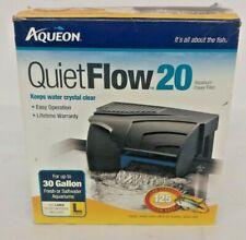 Aqueon Quiet Flow 20 Water Filter 30 Gallon Fresh Saltwater Fish Tank Aquarium
