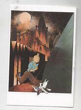 Carte Postale Tintin par Pascal SOMON. Tintin et la Cathédrale. Tirage limité