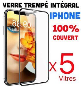 Film Verre Trempe Vitre Protection écran iPhone 11/12Pro/Max/XR/XS/8/7/6S/SE 20