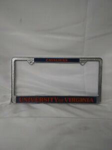 Virginia Cavaliers UVA Chrome Frame Metal License Plate Tag Cover