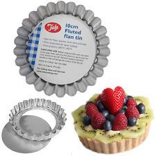 6* 10cm Non Stick Flan Tins Fluted Tart Pie Blossom Mini Quiche Baking Mould