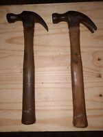 2 Vintage Stanley Claw Hammer 16oz