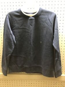 LAURA SCOTT PETITE S Blue Crew Neck Fleece Pullover Top FREE Shpg NWTA