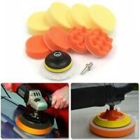 "10PCS 3"" Polishing Pad + Hand Buffer Set with Drill Adapter For Car Polish Tools"