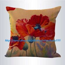 US SELLER-garden vintage poppy flower cushion cover wholesale decorative pillows