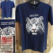 Vintage Wildlife Safari Winston Oregon T-Shirt 70s 80s M Textile Prints USA