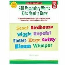 240 Vocabulary Words Kids Need to Know: Grade 2: 24 Ready-to-