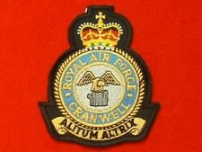 RAF Cranwell Station Embroidered Crest Badge (Royal Air Force)