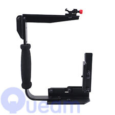 Rotating Camera Flash Bracket Grip for Canon Nikon Pentax Flashgun Speedlite