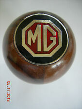 MG MGB  WALNUT WOOD GEAR SHIFT KNOB WITH METAL MG EMBLEM METAL THREAD 77 - 80