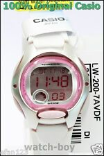 Casio Ladies Kids Digital Watch Lw-200-7a Alarm Stopwatch White Rubber Quartz