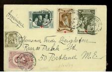 1939 Brussels Belgium Airmail Cover to Usa w/letter
