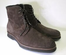 Aquatalia men's Gale Brown Suede leather Weatheproof casual Boots sz 11 NEW!