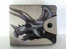 BLACK FAUX LEATHER DESIGNER STYLE WALLET/6 CREDIT CARD SLOTS / PHOT0 SLOT/UNISEX