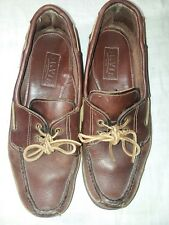 Men's Orvis Brown Leather Oxford 2 Eye Loafers Heavy Moccasins Usa Made Sz 13