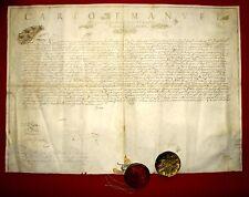 1650 Torino KARL EMANUEL II. Savoyen e.U. LEHENSBRIEF Goldschrift Pergament