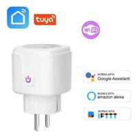 Smart WiFi Socket EU Plug 16A Power Monitor Tuya Outlet Alexa Google Home IFWCP