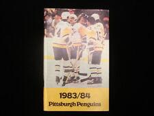 1983-84 Pittsburgh Penguins Hockey Media Guide