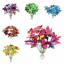 10PCS Ornament Butterfly On Sticks Wedding Party Decor Garden Plant Lawn Art