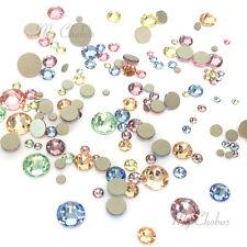 144 Mixed Sizes Swarovski 2058/2088 flatbacks rhinestones BABY Colors Mix