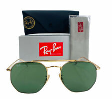 New Ray-Ban RB3648 001 Marshall Sunglasses Gold Frame Classic Green G15 Lens