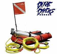 THE DOUBLE FLOAT SCUBA HOOKAH SYSTEM REGULATORS BROWNIES HOSES GUAGES THIRD LUNG