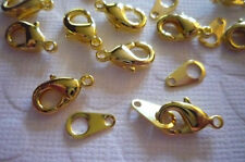 12mm Antiqued Brass Lobster Clasps w Macthing Jump Ring Tags - Qty 10