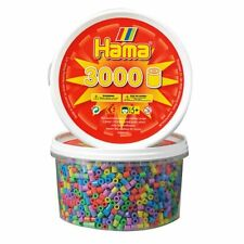 Hama Beads-Pastel Mix 3000 Bañera (Midi Granos)