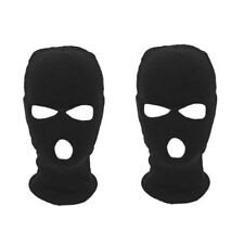 2 PACK 3 HOLE BALACLAVA BLACK MASK WINTER SAS STYLE ARMY SKI KNITTED NECK WARMER
