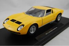WELLY 1971 LAMBORGHINI MIURA SV 1:18 DIE CAST METAL MODEL NEW in Box 23 cm