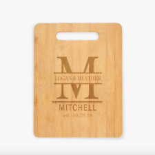 Couples Personalized Bamboo Cutting Board