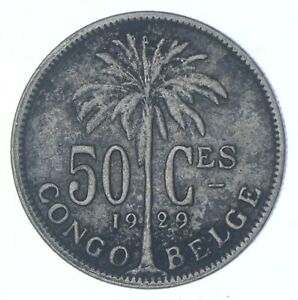 Better - 1929 Belgian Congo 50 Centimes - TC *097