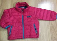 Baby Patagonia Down Coat Jacket Sweater Pink And Blue Size 3/6 Months