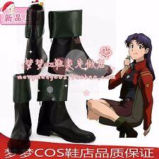 Neon Genesis Evangelion Katsuragi Misato cosplay shoes boots Custom-Made 2437