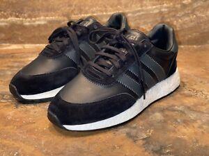 Adidas Originals I-5923 Iniki Boost BD7798 Core Black Leather Men Size 10