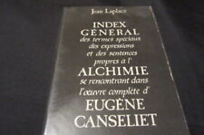OCCULT / ALCHIMIE / Jean LAPLACE : INDEX CANSELIET