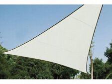 Perel Sonnensegel Dreieck 5 x 5 m x 5 m cremefarben Sonnenschutz Garten Terrasse